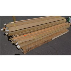 Pallet of 9' Vinyl-Wrapped Crown Molding, Approx. 150 pcs (white, tan (24), brown (88), red (30)