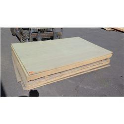 Engineered Wood Panels w/White Finish, 9pcs