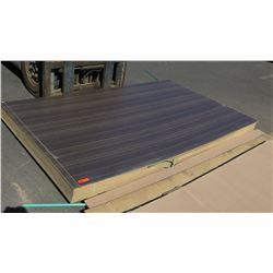 Engineered Wood Panels w/Dark Finish, 20pcs