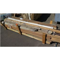 Large Lot of Tongue and Groove Wood Panels & Misc. Wood Trim (approx. 102 pcs)