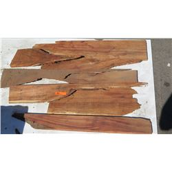 Various Sizes Flat Natural Wood Pieces (Some w/ Bark)