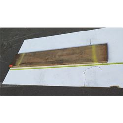 "Natural Wood Plank - Approx. 76"" Dark Wood"