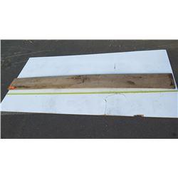 "Natural Wood Plank - Approx. 97"" Dark Wood"
