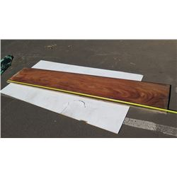 """Natural Wood Plank - Approx. 120"""" Red/Brown Wood"""
