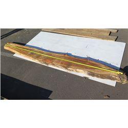 "Large Natural Wood Slab w/ Bark Approx 125"""