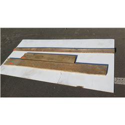 Natural Wood Planks, 3pcs, Various Length