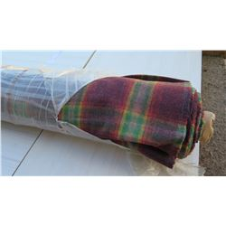 """Bolt of Multicolored Plaid Flannel Fabric, Approx. 60"""" Wide, Red/Green"""