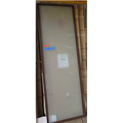"Sliding Doors 3pcs, Brown Frame, Milky Glass, 31"" x 94"", Retail $1500"