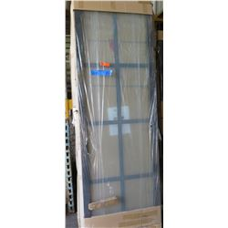 "Sliding Doors 4pcs (2 sets), Paned, Charcoal Frame, 2.5"" Top Hang 120""Wx95.25""H, $200 Retail"
