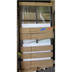 Single Wide Sliding Paned Glass Door, Dark Frame, 82x42