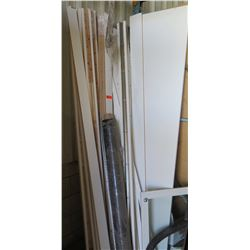 Miscellaneous Trim and Wood Slats, White Finish