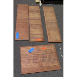 4 Pcs Koa Veneer Wood Cabinet Doors, Pillow Edged (10x40 & 18x24)