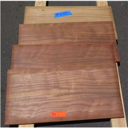 4 Pcs Koa Veneer Wood Cabinet Doors, Pillow Edged (13x27)