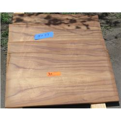 "4 Pcs Koa Veneer Wood Cabinet Doors, Pillow Edged (15""x27"")"