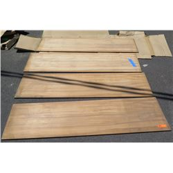 "4 Pcs Koa Veneer Wood Cabinet Doors, Pillow Edged 18""x66"""