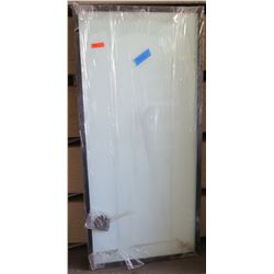 Single Panel Sliding Door, Dark Frame,  37x78