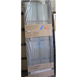 Paned Sliding Glass Door, Dark Frame, 2 pcs, each approx. 31x92 $1000 Retail