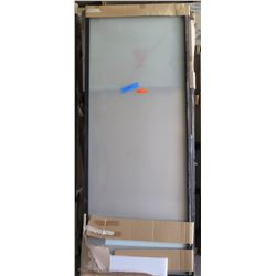 Single Sliding Door, Black Frame, Approx. 36x94