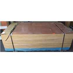 "Qty 40 Sapele Veneer, Plywood Sheets 3/4"" (4' x 8'), Prefinished, High Value"