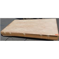 "Qty 9 Mango Veneer, Plywood Sheets 3/4"" (4' x 8'), $150 to $300 per Sheet Retail Value"