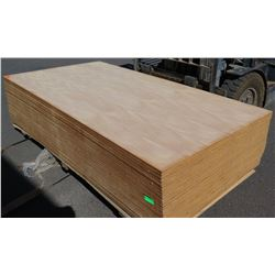 "Qty 27 (approx.) Mango Veneer, Plywood Sheets 3/4"" (4' x 8') $150 to $300 per Sheet Retail Value"