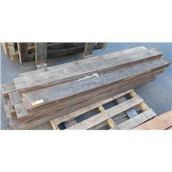 Aprox. 13 pcs Dimensional Natural Hardwood, 2x4s