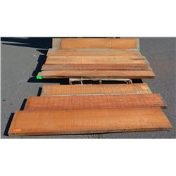 Aprox. 8 pcs Dimensional Natural Hardwood, Unfinished Sapele?, Various Sizes