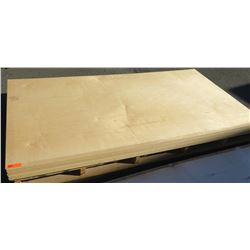 "Qty 18 Maple Melamine Plywood Sheets 3/4"" (4' x 8')"