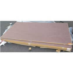 "Qty 7 Wenge Melamine Custom Specialty Plywood Sheets 3/4"" (4X8)"