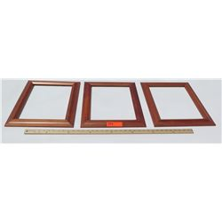 "Koa Wood Frames (No Glass or Backing), 3pcs, Approx. 14.5""x17.5"""