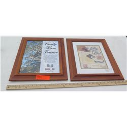 "Qty 2 Curly Koa Wood Frames 11""x14"""