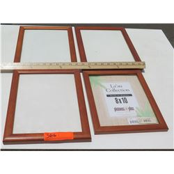 "4 Solid Koa Picture Frames, Various Sizes 8""x10"", 11""x8.5"" (has a few scratches)"