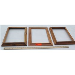 "3 Solid Koa Pictures Frames 1pc 14.5""x17.5"" and 2pc 13.5""x16.5"", No glass or backing"