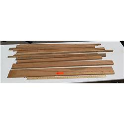Koa Wood Bundle, Various Grades, Quality, Sizes, (all are 3 ft or longer) 11 pcs