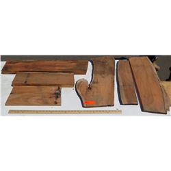 Koa Wood Bundle, Various Grades, Quality, Sizes, 6 pcs