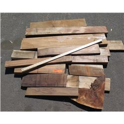 Koa Wood Bundle, Various Grades, Quality, Sizes, (Approx 1-3 ft), Approx. 14 pcs