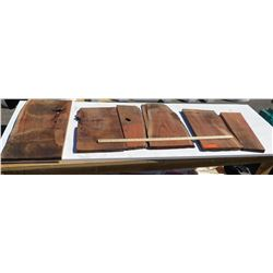 Koa Wood Bundle, Various Grades, Quality, Sizes, (Approx 1-2 ft), Approx. 6 pcs