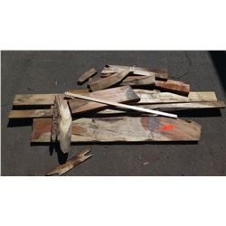 Koa Wood Bundle, Various Grades, Quality, Sizes, (Approx 1.5-6 ft), Approx. 10 pcs