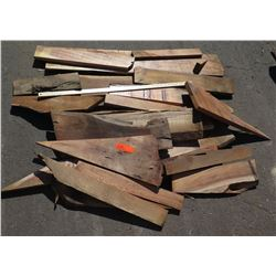 Mixed Hardwood Bundle: Koa/African Mahogany, Various Sizes (Approx 1-2 ft), Approx. 23 pcs
