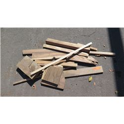 Mixed Hardwood Bundle: Koa/African Mahogany, Various Sizes, (Approx .5-2 ft), Approx. 13 pcs