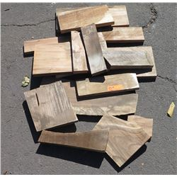 Mixed Hardwood Bundle: Koa/African Mahogany, Various Sizes, (Approx 1-2 ft), Approx. 14 pcs