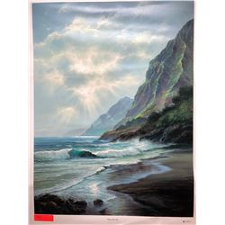 """Misty Morning"" by Rudy Gonzalez, Canvas Giclee 35 3/4"" x 27"" Retail $650"