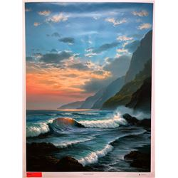 """Tropical Embrace"" by Rudy Gonzalez, Canvas Giclee 36"" x 27"" Retail $650"