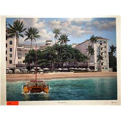 """Moana Beach"" Front by Rodel Gonzalez, Canvas Giclee 32"" x 24"" Retail $1500"