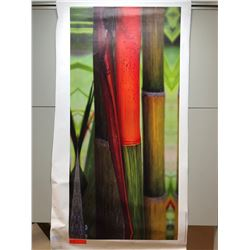 "Red Bamboo Canvas Giclee 21 1/4"" x 45"""