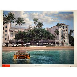 """Moana Beach Front"" by Rodel Gonzalez, Canvas Giclee 32"" x 24"" Retail $1500"