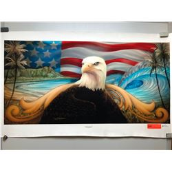 """Freedom"" by Dennis Matthewson, Signed, Ltd. Ed. 22 of 250, Canvas Giclee 40"" x 20"""