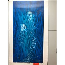 """Jelly Sea II"" by Dennis Matthewson, Signed, Ltd. Ed. 14 of 250, Canvas Giclee 18"" x 36 1/4"""