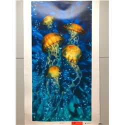 """Jelly Sea X"" by Dennis Matthewson, Signed, Ltd. Ed. 54 of 250, Canvas Giclee 18"" x 36"""