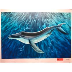 """Whale's Song"" by Dennis Matthewson, Signed, Ltd. Ed. 12 of 250, Canvas Giclee 36"" x 24"""